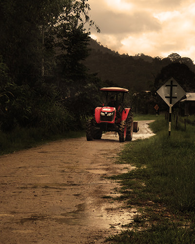 Genius Loci #22 by Jeremy Chin - Tractor on Dirt Road, Bario, Sarawak
