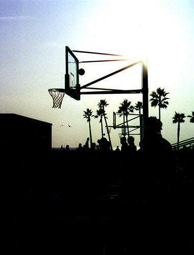 Genius Loci #73 by Jeremy Chin - Evening Basketball at Venice Beach, California