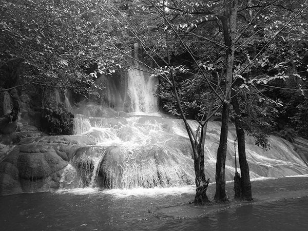 Lenscapes #27 by Jeremy Chin - Water Fall at River Kwai