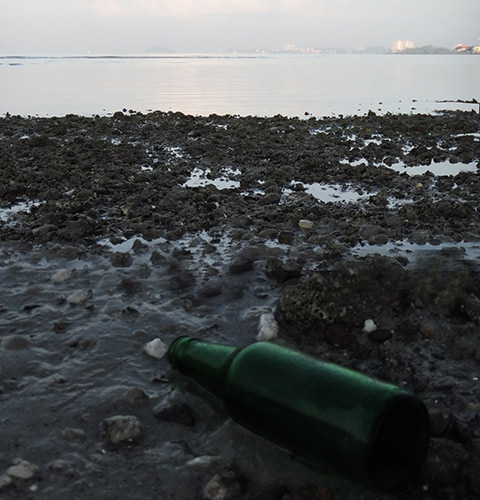 Stills #7 by Jeremy Chin - Beached Bottle at Avillion Beach, Port Dickson